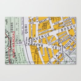 Paris Streets 3 Canvas Print