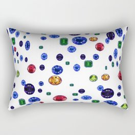 ASSORTED GEMS RAINING Rectangular Pillow