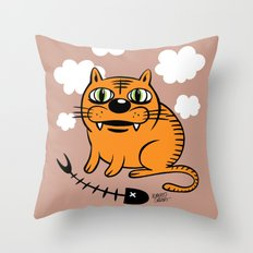 FAT CAT Throw Pillow
