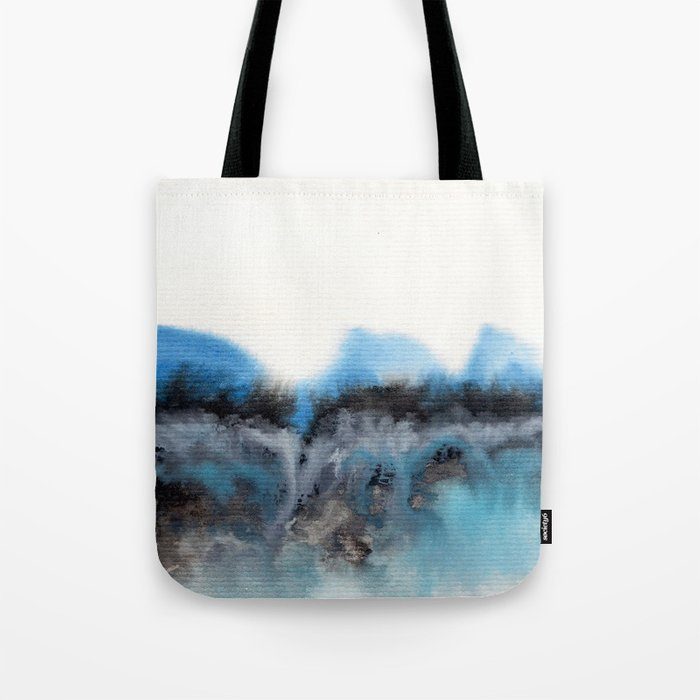 Watercolor abstract landscape 11 Tote Bag