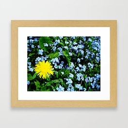 Yellow Rules Framed Art Print