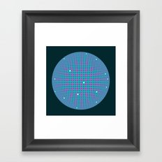 Sphere Blue Framed Art Print