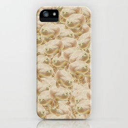 Wednesday Frog Pattern iPhone Case