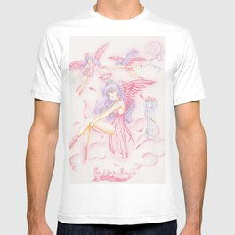 Sailor Mars Rei Hino Angels T-shirt