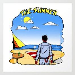 devil and summer Art Print
