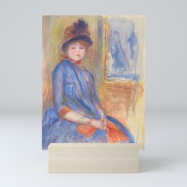 "Pierre-Auguste Renoir ""Young Girl in a Blue Dress"" Mini Art Print"