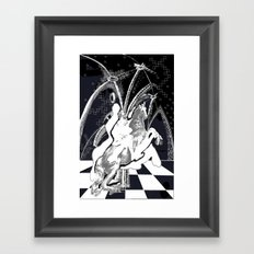 ghost rider shadow Framed Art Print