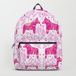 Swedish Dala Horses – Pink Palette Backpack