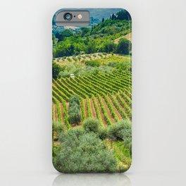 Tuscany Hillside, San Gimignano, Italy iPhone Case