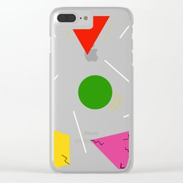 Falling Glass Shapes Clear iPhone Case
