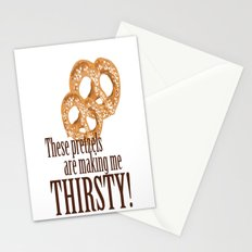 These pretzels are making my thirsty! Stationery Cards