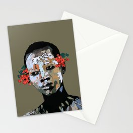 African Woman- Omo Valley Stationery Cards