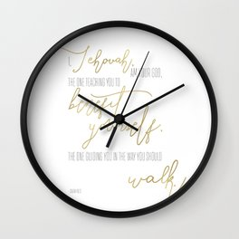 Isaiah 48:17 - Goldie Wall Clock