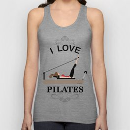 I love pilates Unisex Tank Top