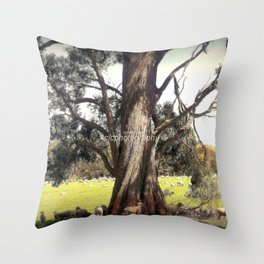 Under the shade of a Coolabah Tree Throw Pillow