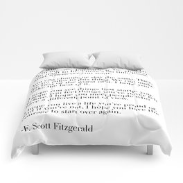 for what it's worth - fitzgerald quote Comforters