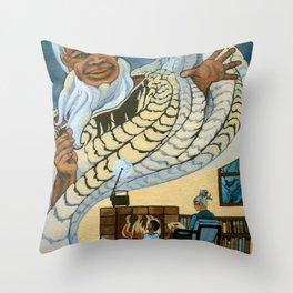Koro, the Maori Storyteller Throw Pillow
