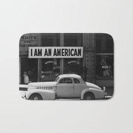 I Am An American Photo Dorothea Lange Bath Mat