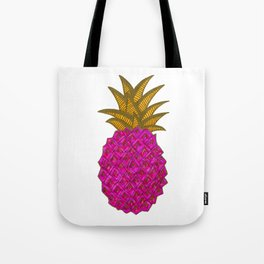 Pink Geometric Party Pineapple Illustration Tote Bag