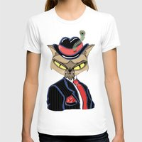 gangster T-shirts featuring Gangster Kitty by J&C Creations