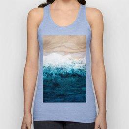 Watercolour Summer beach III Unisex Tank Top