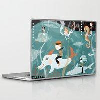 underwater Laptop & iPad Skins featuring underwater by Orit Bergman