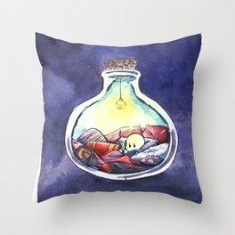 bottledrop reader Throw Pillow