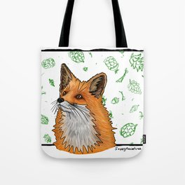 Winter Fox Tote Bag