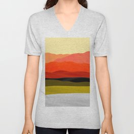 Mountains in Gradient Unisex V-Neck