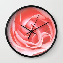 Velvet pink rose - Roses Flowers Flower Wall Clock