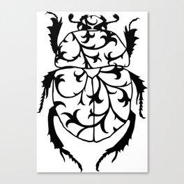 Beetle pattern Canvas Print