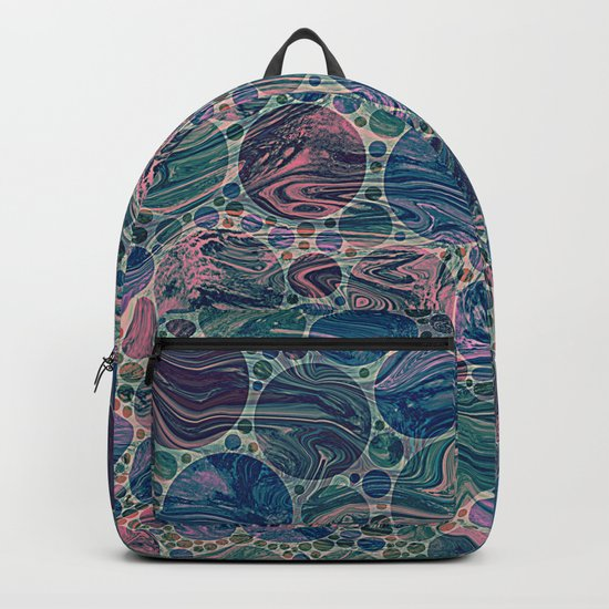 Marble Effect Dots 4 Backpack