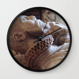 Monument To Thomas Wentworth And Margaret Gascoigne Vector Wall Clock