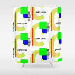 "Cocktail ""C"" - Caipirinha Shower Curtain"