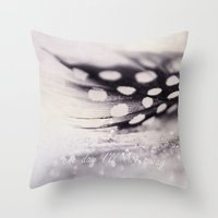 feather Throw Pillows featuring feather by Ingrid Beddoes