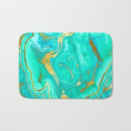 Geode 52 Gold Stone Slab Bath Mat