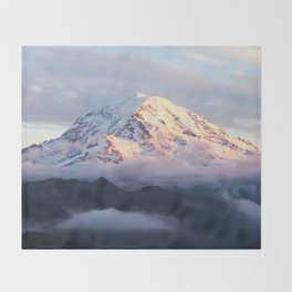 Marvelous Mount Rainier 2 Throw Blanket