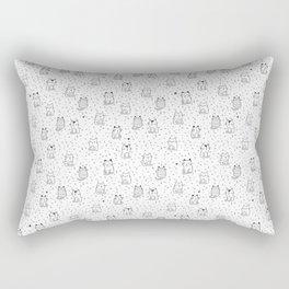 Doodle cute cats Rectangular Pillow