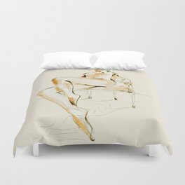 nude woman 2 Duvet Cover