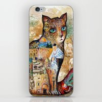 israel iPhone & iPod Skins featuring Cat of Israel by oxana zaika
