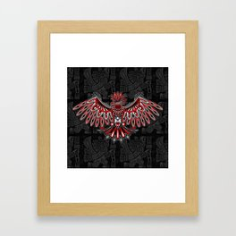 Eagle Tattoo Style Haida Art Framed Art Print