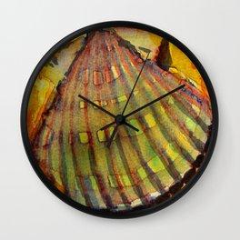 Scallop Shell Wall Clock