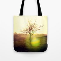 sansa stark Tote Bags featuring Stark Sunrise by Mark Bagshaw Photography