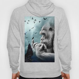 Gorilla discovers crows by GEN Z Hoody