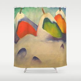"Franz Marc ""Haystacks in the Snow"" Shower Curtain"