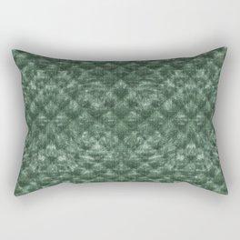 Quilted Forest Green Velvety Pattern Rectangular Pillow