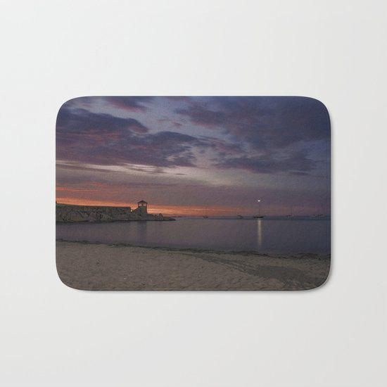 Front Beach After sunset Bath Mat