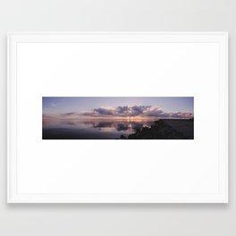Sunrise On The Bay - Panoramic Framed Art Print