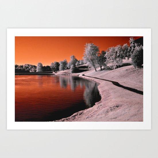 Infrared Sunrise Art Print