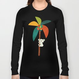 Koala on Coconut Tree Long Sleeve T-shirt
